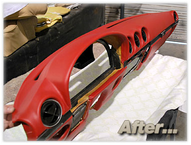 Bud's Benz : Portfolio : Interior Restoration : Dash Recovering